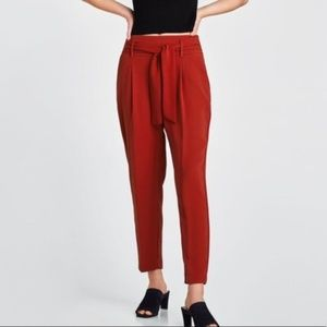 Zara Red Pants